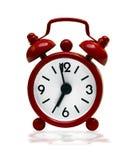 Petite rétro horloge d'alarme rouge Photo libre de droits