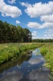 Petite rivière dans Fojutowo, Pologne Images libres de droits
