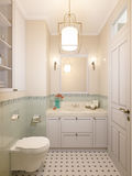 Petite salle de bains dans la maison de luxe Image libre de droits