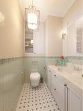 Petite salle de bains dans la maison de luxe Photos stock