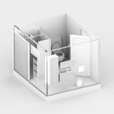 Petite salle de bains transparente Image libre de droits