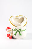 Petite Santa Claus colorée mignonne d'isolement sur le fond blanc photographie stock