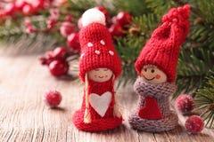 Petite Santa décoration de deux Images libres de droits