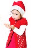 Petite Santa de soufflement Photos stock