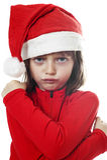 Petite Santa fâchée Image stock