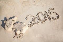 Petite sculpture de la chèvre - symbole de 2015 ans Photos libres de droits