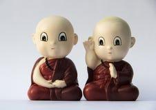 Petite sculpture en argile de moine Images libres de droits