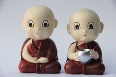 Petite sculpture en argile de moine Image libre de droits