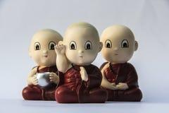 Petite sculpture en argile de moine Photo libre de droits
