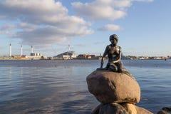 Petite sirène à Copenhague, Danemark Image libre de droits