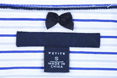 Petite-size clothing label Stock Image