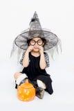 Petite sorcière de tristesse image libre de droits