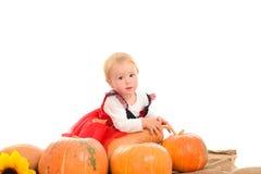 Petite sorcière de Veille de la toussaint Photos stock
