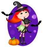 Petite sorcière mignonne Photos libres de droits