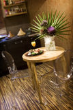 Petite table de cuisine Photographie stock