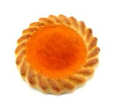 Petite tarte d'abricot Image libre de droits