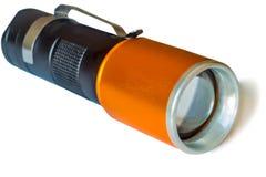 Petite torche électrique sur le fond blanc Image libre de droits