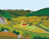 Petite usine dans les montagnes illustration stock