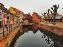 Petite Venise, Colmar, France. stock photography