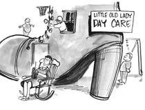 Petite vieille Madame Day Care illustration stock