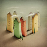 Petite ville colorée illustration de vecteur