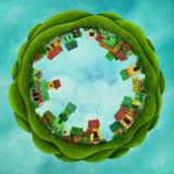 Petite ville d'imagination illustration de vecteur