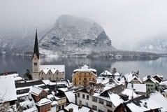 Petite ville dans les Alpes Image libre de droits