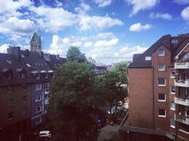 Petite ville de Dusseldorf photos stock