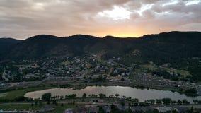 Petite ville de montagne Image libre de droits