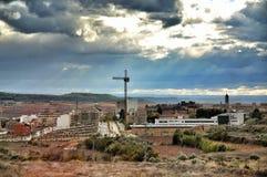 Petite ville de paysage, Espagne image stock