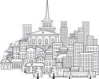 Petite ville de quelques rues illustration de vecteur