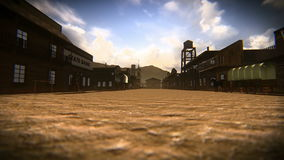 Petite ville du vieil ouest banque de vidéos