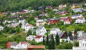 Petite ville en Europe Photos stock