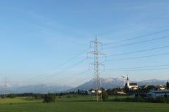 Petite ville en Suisse Images libres de droits