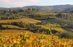Petite ville italienne Panzano image stock