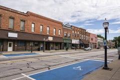 Petite ville Main Street Image stock
