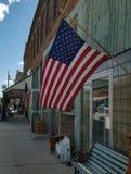 Petite ville patriotique Images stock