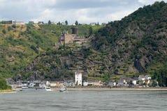 Petite ville sur la vallée du Rhin en Allemagne Image stock