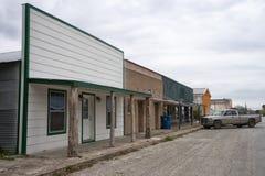 Petite ville typique le Texas de victorian images stock