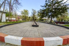 Petite voie karting ovale photographie stock libre de droits