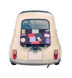 Petite voiture d'Européen de vintage Photo libre de droits