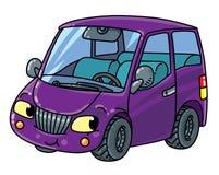 Petite voiture drôle avec des yeux Photographie stock libre de droits