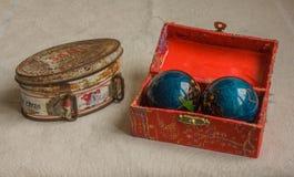 Petites boîtes de vintage Image stock