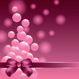 Petites boules roses et bande décorative sur le fond coloré Photos libres de droits