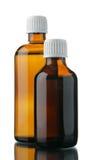 Petites bouteilles avec la drogue Images stock