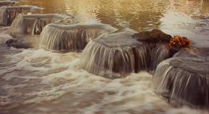Petites cascades en rivière Photographie stock libre de droits