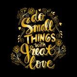 Petites choses d'O avec grand amour illustration de vecteur