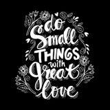 Petites choses d'O avec grand amour illustration libre de droits