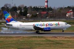 Petites compagnies aériennes de planète Image libre de droits