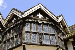 Petites fenêtres en verre teinté de Moreton Hall Photo libre de droits